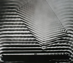 Berenice Abbott  -  Water Waves Change Direction, Cambridge, MA, 1958 / Silver Gelatin Print  -  14.75 x 17