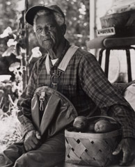 Tim Barnwell  -  Oscar Avery Resting from Picking Apples, Bat Cave, Henderson County, NC, 2005 / Silver Gelatin Print  -  11 x 14