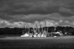 Tim Barnwell  -  Fishing Boats, Coastal GA / Pigment Print  -  Available in Multiple Sizes