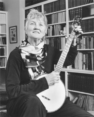 Tim Barnwell  -  Peggy Seeger playing banjo, 2004 / Pigment Print  -  11x14 or 16x20