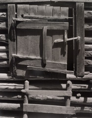 Tim Barnwell  -  Corn Crib Door, Big Pine Creek, Madison County, NC, 1981 / Silver Gelatin Print  -  20 x 16
