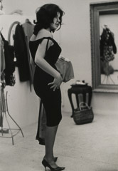 Ruth-Marion Baruch  -  Woman in Black Dress Which is Too Tight, 1961 / Silver Gelatin Print  -  8 x 10
