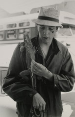 Ruth-Marion Baruch  -  Man with Iguana on His Shoulder, Haight Ashbury, 1967 / Silver Gelatin Print  -