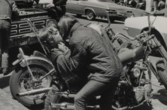 Ruth-Marion Baruch  -  Love on a Motorcycle, Haight Ashbury, 1967 / Silver Gelatin Print  -