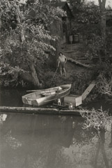 Ruth-Marion Baruch  -  Woman on Slough, 1961 / Silver Gelatin Print  -  9.5 x 6.5
