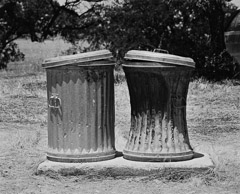 Edna Bullock  -  Garbage Cans 1983 / Pigment Print  -  available in multiple sizes