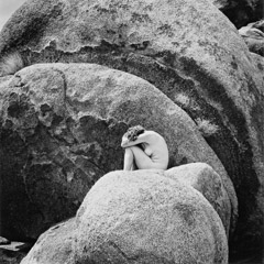 Edna Bullock  -  Peggy and Round Rocks 1991 / Pigment Print  -  available in multiple sizes