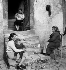 Mario DiGirolamo  -  Three Generations, Vallecorsa, Italy, 1968 / Silver Gelatin Print  -  Available in multiple sizes