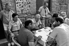 Mario DiGirolamo  -  Card Players, Piediluco, Italy, 1995 / Silver Gelatin Print  -  Available in multiple sizes