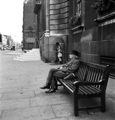 Mario DiGirolamo  -  The Old & The Young, London, England, 1955 / Silver Gelatin Print  -  Available in multiple sizes