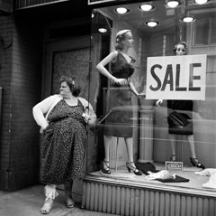 Mario DiGirolamo  -  Sale, New York City, 1959 / Silver Gelatin Print  -  Available in multiple sizes