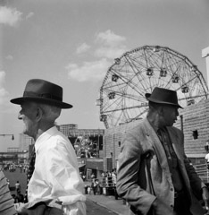 Mario DiGirolamo  -  Going Separate Ways, Coney Island, 1959 / Silver Gelatin Print  -  Available in multiple sizes