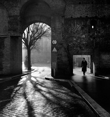 Mario DiGirolamo  -  Entering The Eternal City, Aurelian Wall, Rome, 1955 / Silver Gelatin Print  -  Available in multiple sizes