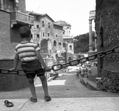 Mario DiGirolamo  -  Swing of Centuries, Rome Italy, 1957 / Silver Gelatin Print  -  Available in multiple sizes