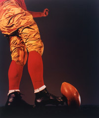 Harold Edgerton  -  Football Kick, 1938 / Dye Transfer  -  14 x 16