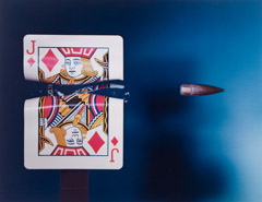 Harold Edgerton  -  Cutting the Card Quickly! 1964 / Dye Transfer  -  14 x 18