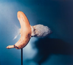 Harold Edgerton  -  Bullet through Bannana, 1964 / Dye Transfer  -  16 x14.5