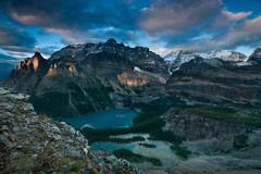 Peter Essick  -  Sunset, Lake O'Hara, from All Souls Prospect, 2012 / Pigment Print  -  12 x 18