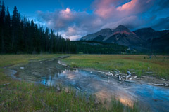 Peter Essick  -  Sunset, Kicking Horse River, 2012 / Pigment Print  -  12 x 18