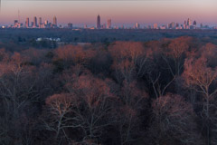 Peter Essick  -  Winter Forest, Atlanta Skyline / Pigment Print  -  Available in Multiple Sizes