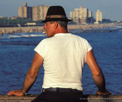 Harold Feinstein  -  Tough Guy on Pier / Pigment Print  -  17 x 22