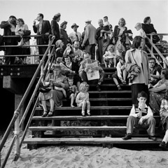 Harold Feinstein  -  Boardwalk Stairs, 1950 /   -