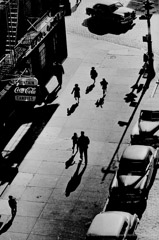 Harold Feinstein  -  125th Street From Elevated Train, 1950 / Silver Gelatin Print  -  16 x 20
