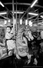 Harold Feinstein  -  Girl on Merry-Go-Round, 1956 / Silver Gelatin Print  -  available in multiple sizes
