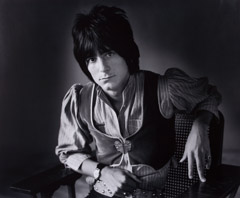 Herb Greene  -  Ron Wood / Silver Gelatin Print  -  15.5x19