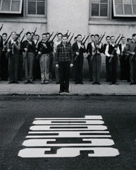John Gutmann  -  Before Pearl Harbor. ROTC at Mission High School. San Francisco, 1938 / Silver Gelatin Print  -  11 x 14