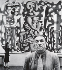 John Gutmann  -  Fernand Leger with Irene and Composition with Parrots, 1940 / Silver Gelatin Print  -  11 x 14