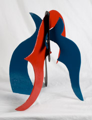 David Hayes  -  Small Sculpture, 2002 / Painted Steel  -  20.5V x 20 x 18
