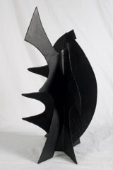 David Hayes  -  Small Sculpture, 1990 / Painted Steel  -  27V x 15 x 14