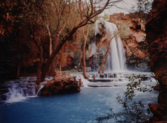 Philip Hyde  -  Havasu Falls, Havasupai Indian Reservation, Grand Canyon, AZ 1974 / Dye Transfer Print (vintage)  -  11 x 14