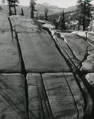 Philip Hyde  -  Glacial Granite Slope at Peeler Lake, Yosemite, CA, 1950 / Silver Gelatin Print  -  10 x 8