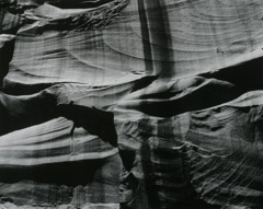 Philip Hyde  -  Sculptured Wall, Cathedral Canyon, UT, 1962 / Silver Gelatin Print  -  8 x 10