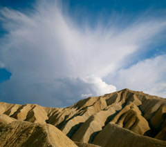 Philip Hyde  -  Anvil Cloud Over Badlands, Death Valley National Park, California, 1985 / Pigment Print  -  Available in multiple sizes