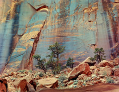 Philip Hyde  -  Hyde's Wall, East Moody Canyon, Escalante Wilderness, Utah, 1968 / Pigment Print  -  Available in multiple sizes