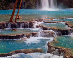 Philip Hyde  -  Base Of Havasu Falls, Havasupai Indian Reservation, Arizona, 1968 / Pigment Print  -  Available in multiple sizes