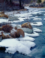 Philip Hyde  -  Ice Plates, Indian Creek, Winter, Northern Sierra Nevada, California, 1976 / Pigment Print  -  20.5 x 16