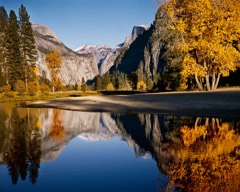 Philip Hyde  -  Merced River, Half Dome, Fall, Yosemite Valley, Yosemite National Park, California, 1969 / Pigment Print  -  Available in multiple sizes