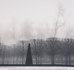 Michael Kenna  -  Point of Honor, Versailles, France, 1996 / Silver Gelatin Print  -  7.5 x 8
