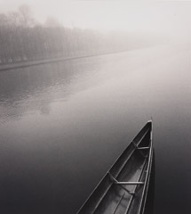 Michael Kenna  -  Tranquil Boat, Grand Canal, Versailles, 96/96 - 5/45 / Silver Gelatin Print  -  8x7.5