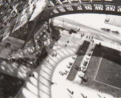 Andre Kertesz  -  Under the Eiffel Tower, 1929 / Silver Gelatin Print  -  3.5 x 4