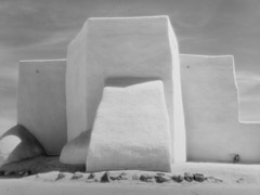 Bob Kolbrener  -  Church at Ranchos de Taos, NM 1990 /   -  16 x 20