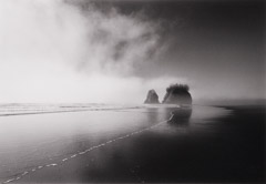 Bob Kolbrener  -  Fog and Sea Stacks,  WA, 1999 / Silver Gelatin Print  -  24 x 30
