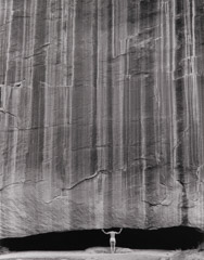Bob Kolbrener  -  Sharon - Cliff Wall, CO, 1998 / Silver Gelatin Print  -