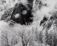 Bob Kolbrener  -  Two Steam Clouds, Yosemite National Park, CA, 2000 / Silver Gelatin Print  -  20 x 24