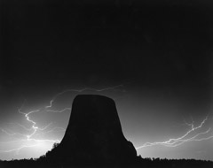Bob Kolbrener  -  Lightning Devils Tower, 1988 /   -  20 x 24