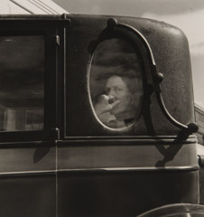 Dorothea Lange  -  Funeral Cortege - End of an Era in a Small Valley Town, 1938 / Silver Gelatin Print  -  8 x 10